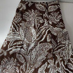 Talbots Size10 Brown/White Pattern Skirt